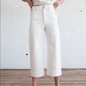 Apiece Apart Merida pants in white denim
